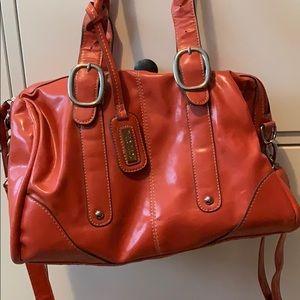 Burnt Orange Hobo Bag